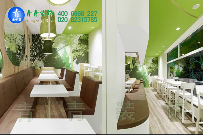 时尚简约餐厅设计效果图片