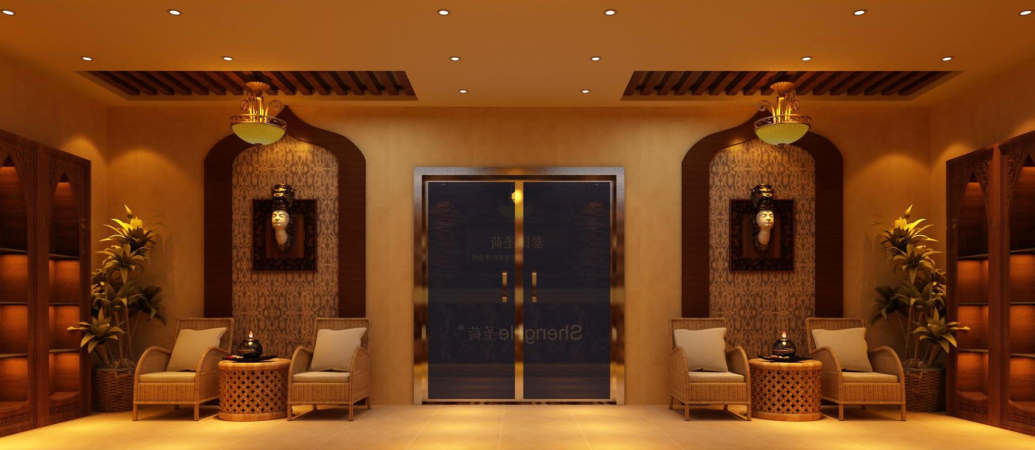 广州圣荷美容院manbetx手机登录设计案例天河北路店