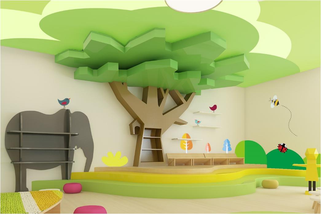 花都幼儿园manbetx手机登录设计效果图片案例参考