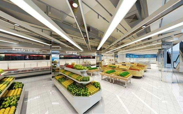最新超市manbetx手机登录设计效果图片参考案例推荐