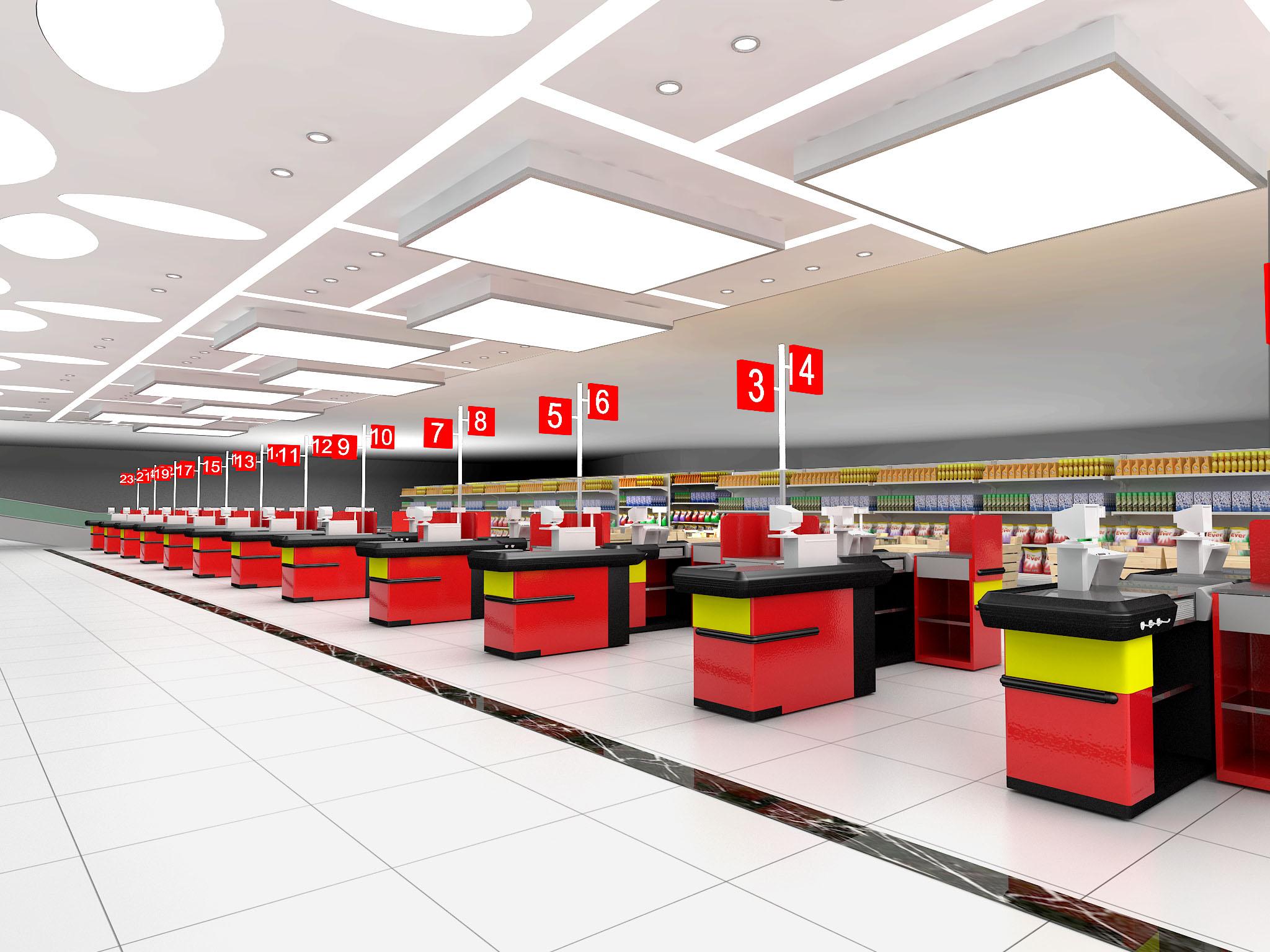 番禺中兴超市设计效果图参考案例大全