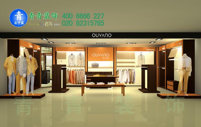 广州品牌男装专卖店manbetx手机登录设计案例