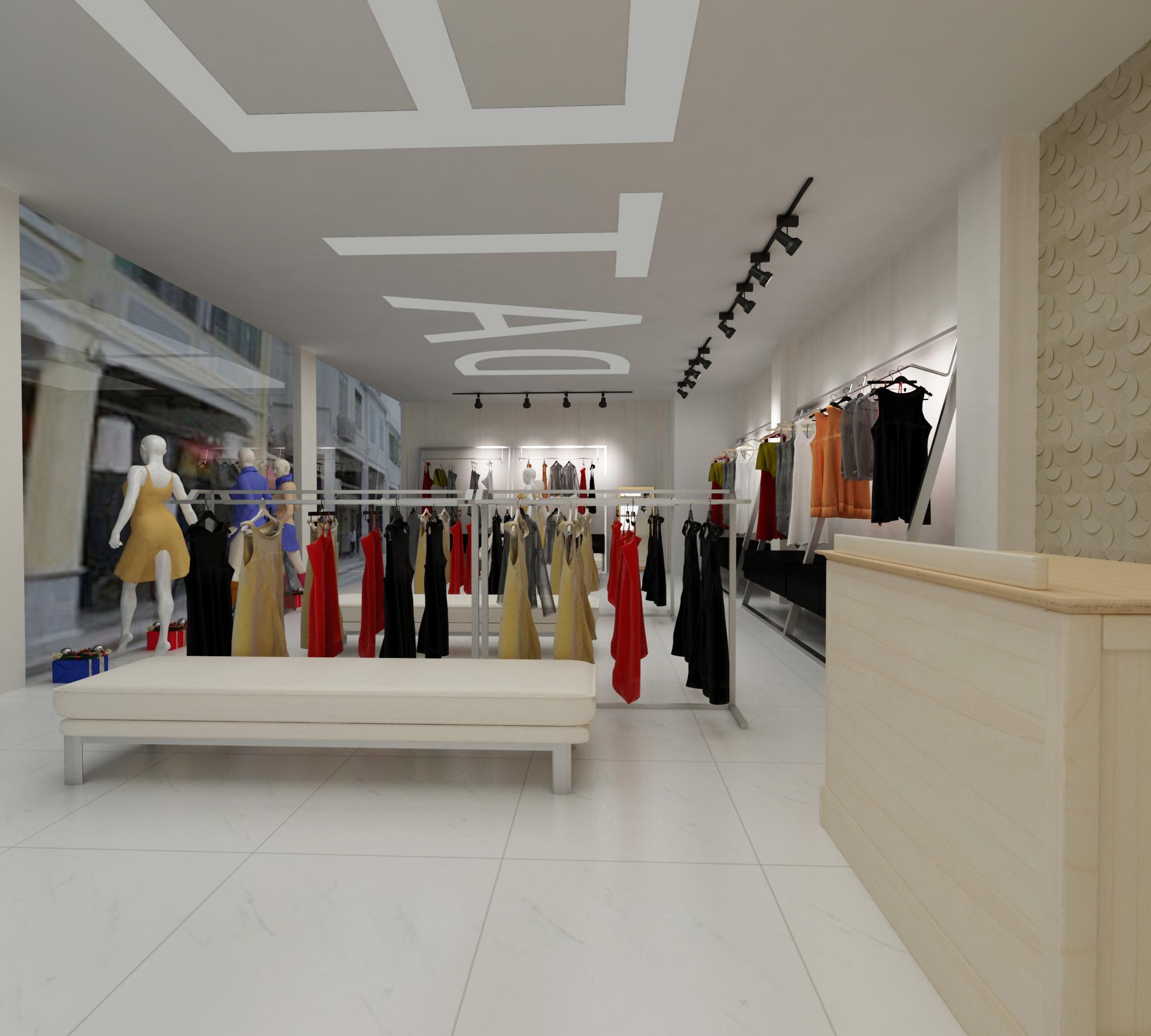 品牌服装店manbetx手机登录设计效果图案例推荐